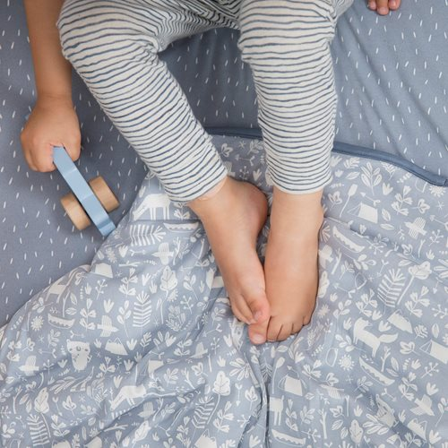 Picture of Cot blanket Adventure Blue