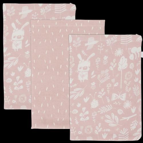 Waschhandschuhe Set Adventure Pink