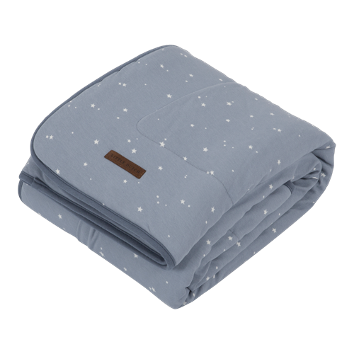 Picture of Cot blanket Pure & soft Little Stars Blue
