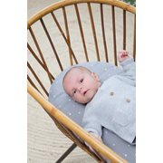Picture of Fitted bassinet sheet Little Stars Grey