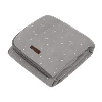 Picture of Cot blanket Little Stars Grey