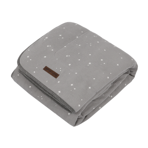 Wiegedecke Little Stars Grey