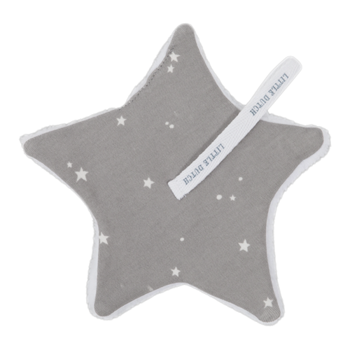 Schnullertuch Little Stars Grey