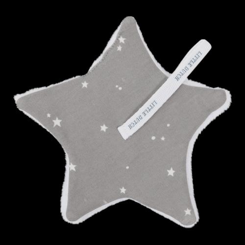 Afbeelding van Speendoekje Little Stars Grey