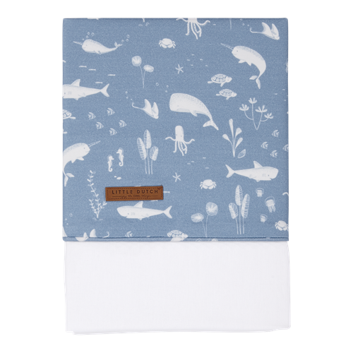 Picture of Cot sheet Ocean Blue
