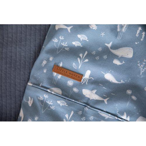 Picture of Bassinet blanket cover Ocean Blue