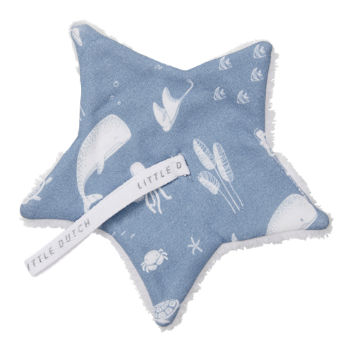 Doudou attache-sucette Ocean Blue
