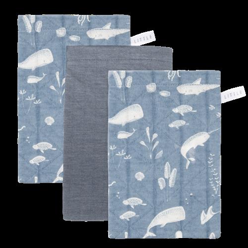 Waschhandschuhe Set Ocean Blue