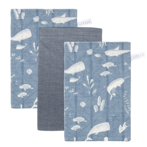 Picture of Washcloths set Ocean Blue