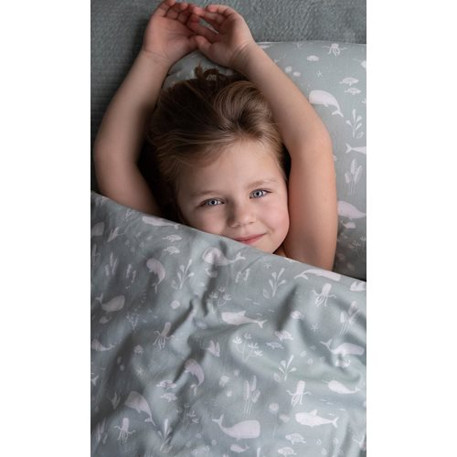 Picture of Cot blanket cover Ocean Mint