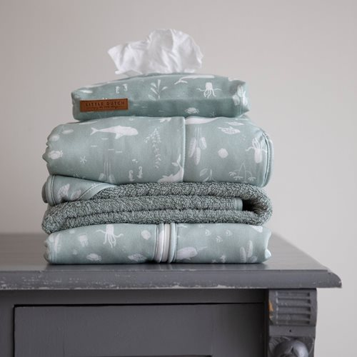Picture of Bassinet blanket cover 80x80 Ocean Mint