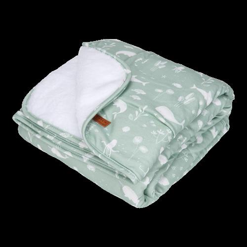 Picture of Cot blanket Ocean Mint