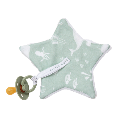 Doudou attache-sucette Ocean Mint