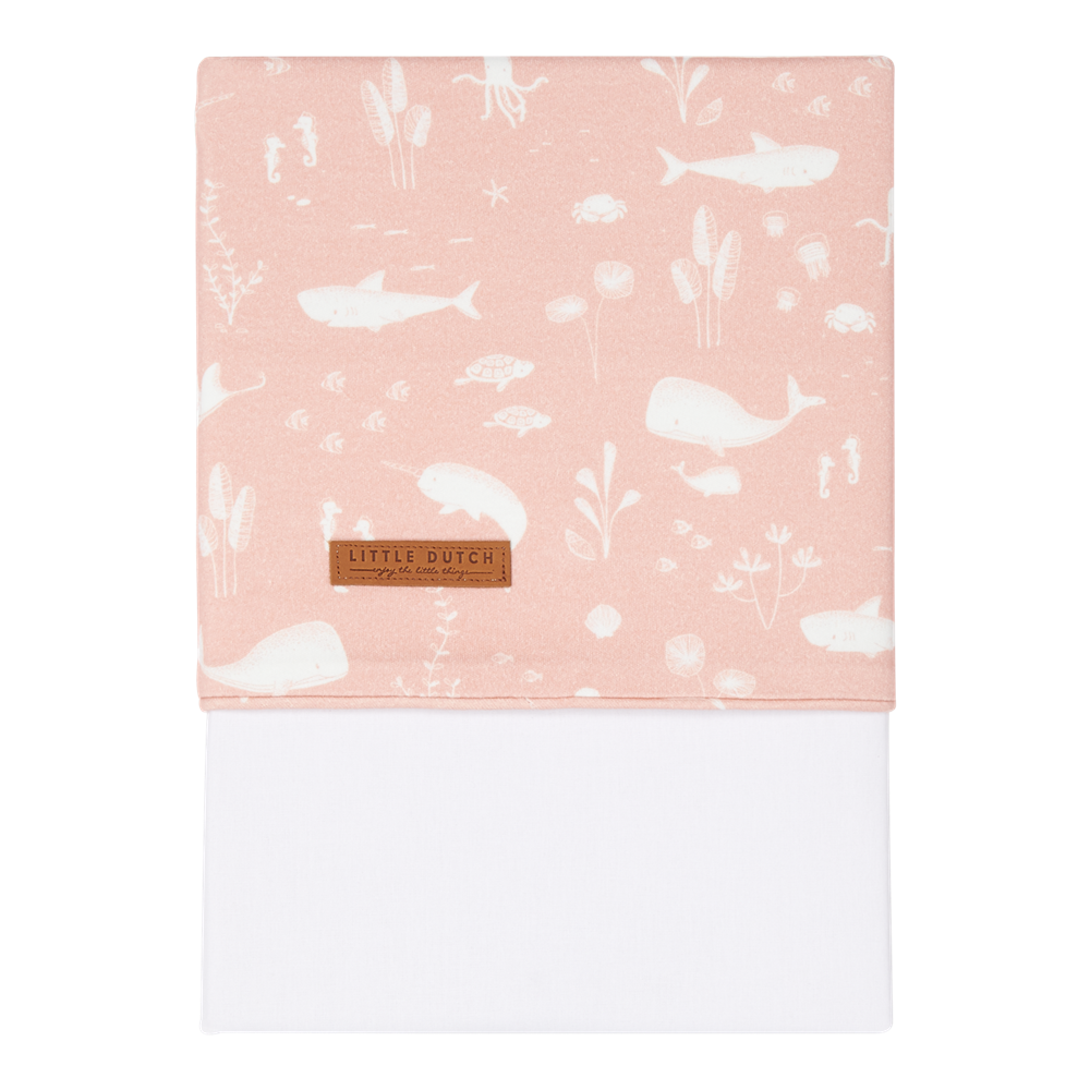 Picture of Cot sheet Ocean Pink