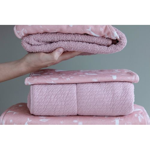 Picture of Bassinet blanket cover 80x80 Ocean Pink