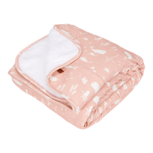 Picture of Cot blanket Ocean Pink