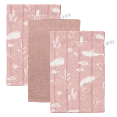 Gants de toilette Lot Ocean Pink