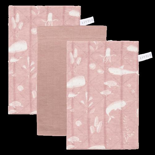 Waschhandschuhe Set Ocean Pink