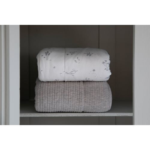 Picture of Bassinet blanket cover Ocean White