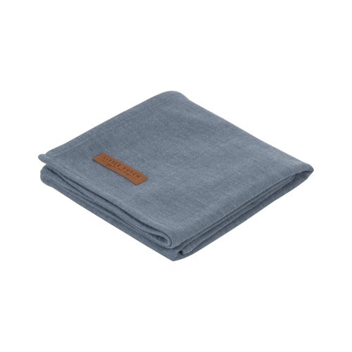 Musselintuch Swaddle 120 x 120 Pure Blue