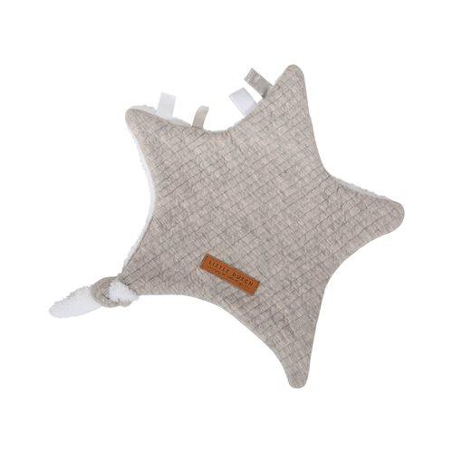 Kuscheltuch Stern Pure Grey
