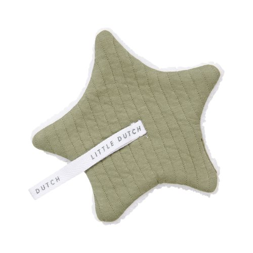 Doudou attache-sucette Pure Olive
