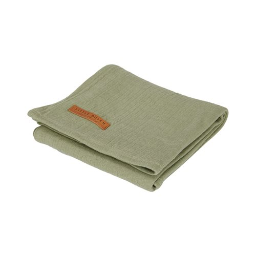 Musselintuch Swaddle 120 x 120 Pure Olive