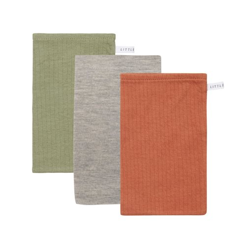 Picture of Washcloths set Pure Rust / Pure Olive