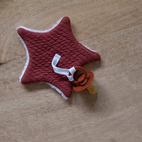 Picture of Pacifier cloth Pure Indian Red