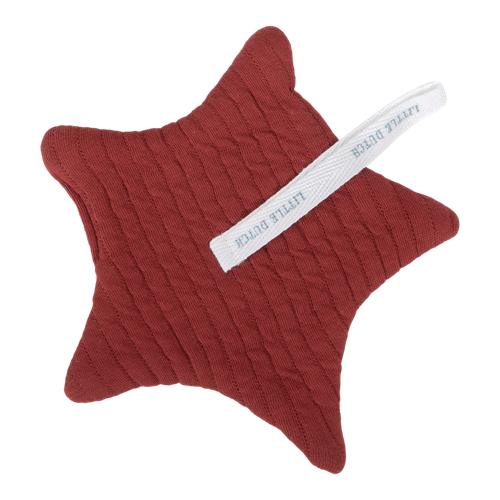 Doudou attache-sucette Pure Indian Red