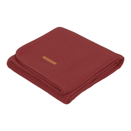 Sommerdecke Kinderbett Pure Indian Red
