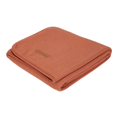 Picture of Cot summer blanket Pure Rust