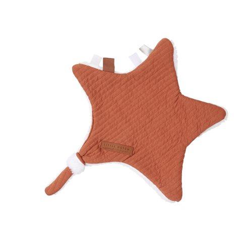 Kuscheltuch Stern Pure Rust