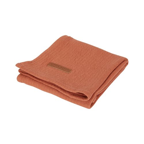 Musselintuch Swaddle 120 x 120 Pure Rust