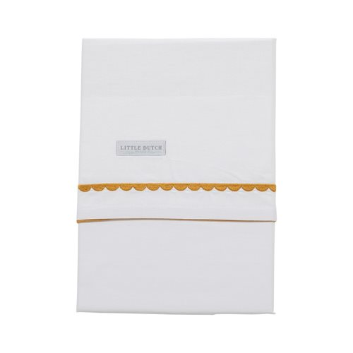 Picture of Bassinet sheet Ochre Rounded embroidered