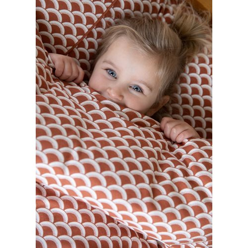 Picture of Cot blanket cover Sunrise Rust