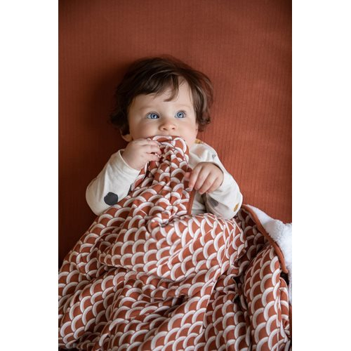 Picture of Bassinet blanket cover Sunrise Rust
