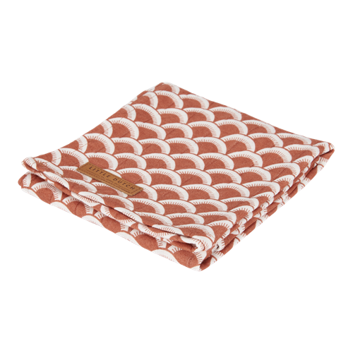 Maxi-lange swaddle 120 x 120 Sunrise Rust