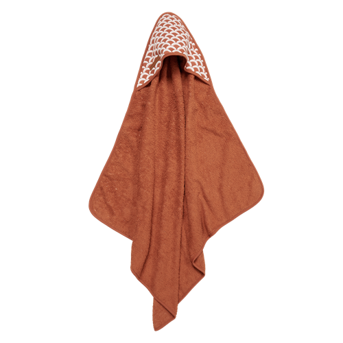 Picture of Hooded towel Sunrise Rust