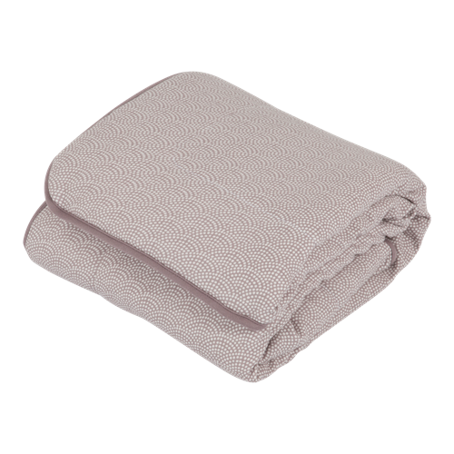 Picture of Cot blanket Mauve Waves