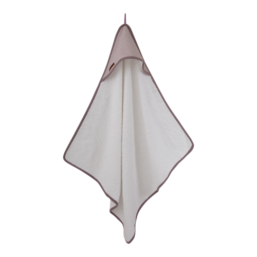 Picture of Hooded towel Mauve Waves