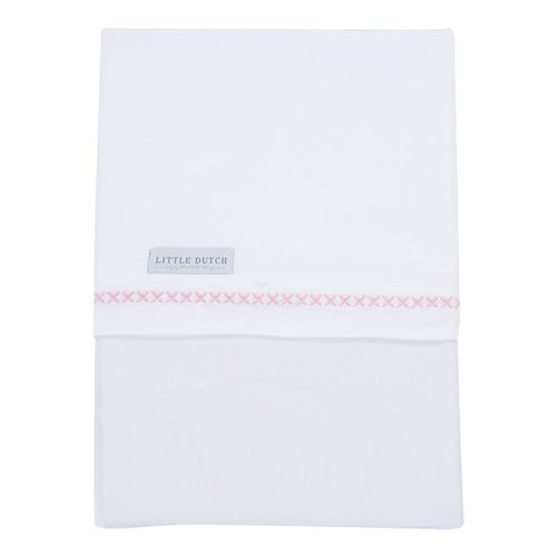 Picture of Cot sheet Sweet Pink embroidered