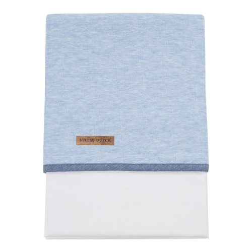 Picture of Cot sheet - Blue Melange