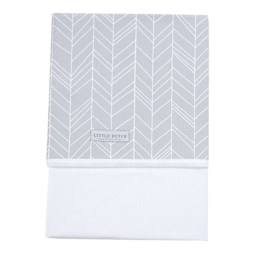 Picture of Cot sheet Grey Leaves