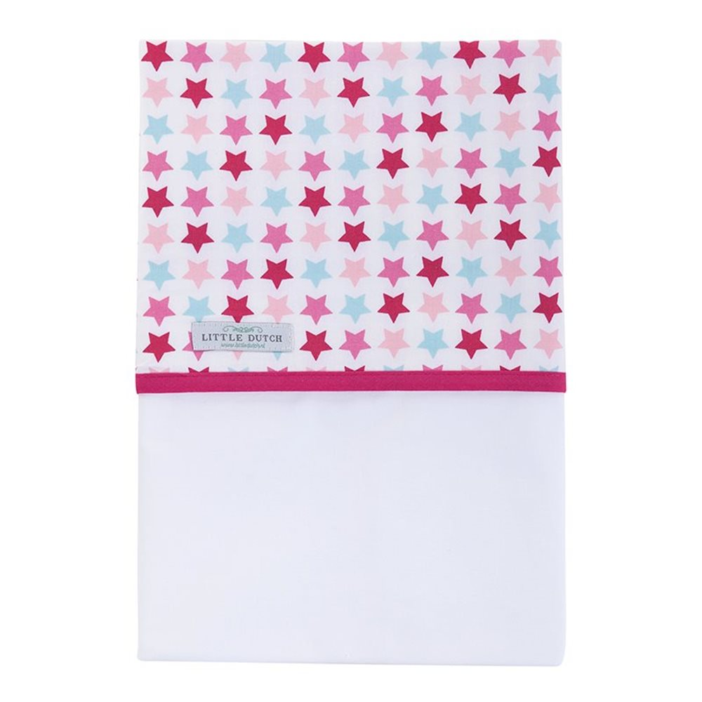Picture of Cot sheet Mixed Stars Pink