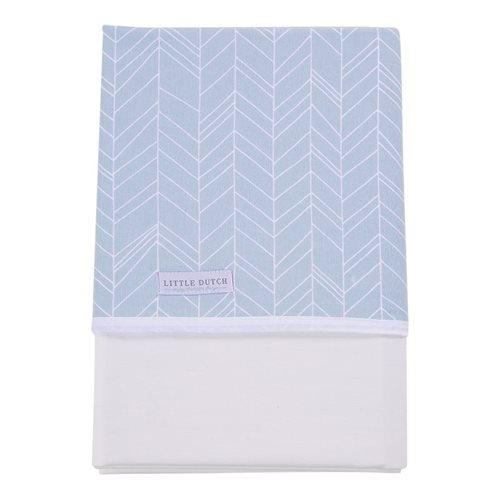 Picture of Bassinet sheet - Blue Leaves
