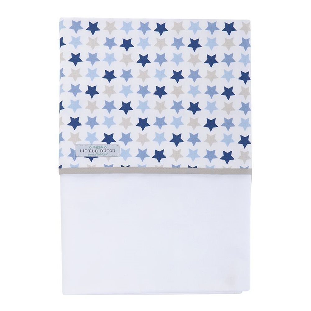 Picture of Bassinet sheet Mixed Stars Blue
