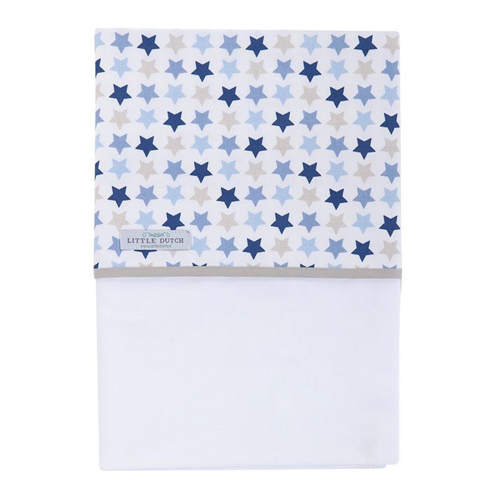Drap de berceau Mixed Stars Blue