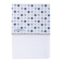 Wiegelaken Mixed Stars Blue