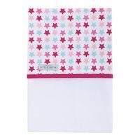 Drap de berceau Mixed Stars Pink